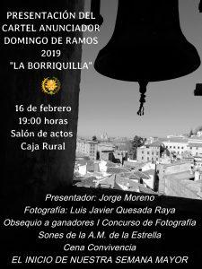 Cartel anunciador Borriquilla (Granada)