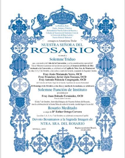 Cartel Rosario Hdad. de Montserrat