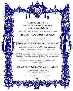 Tríduo en honor a nuestro Sagrado Titular Jesús de la Entrada en Jerusalén @ Iglesia Parroquial de San Andrés, Granada