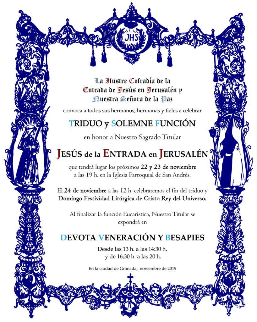 Tríduo Borriquilla Granada 2019