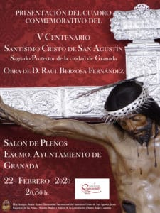 Presentación del Cuadro Conmemorativo del V Centenario del Cristo de San Agustín @ Salón de Plenos, Ayuntamiento de Granada