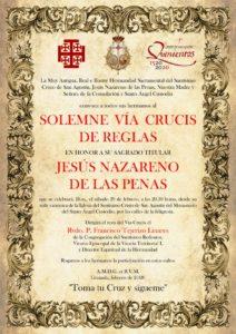 Hdad. de San Agustín: Via Crucis @ Monasterio del Santo Ángel Custodio