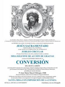 Hdad. de Montserrat: Solemne Misa de Acción de Gracias @ Capilla de la Hermandad de Montserrat