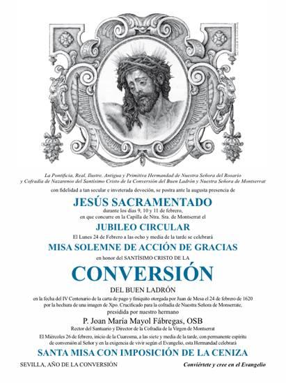 Cartel Misa de Agradecimiento - Hdad de Montserrat