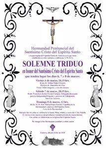 Solemne Triduo en honor del Santísimo Cristo del Espíritu Santo @ Parroquia del Espíritu Santo